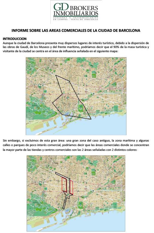INFORME SOBRE LAS AREAS COMERCIALES DE LA CIUDAD DE BARCELONA-1